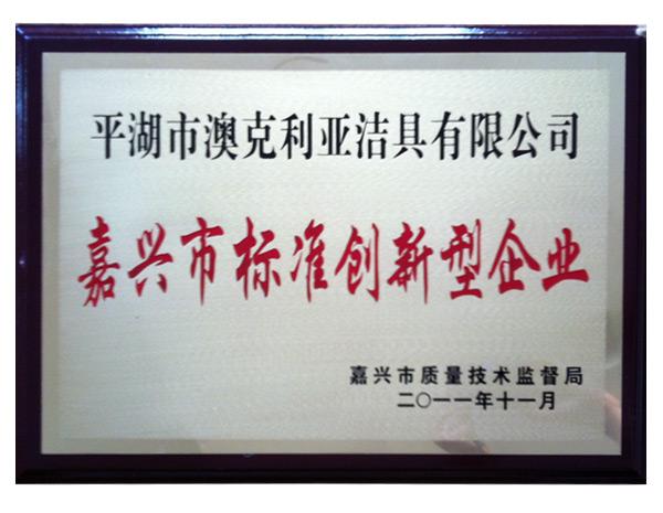 2011嘉兴市标准创新型企业